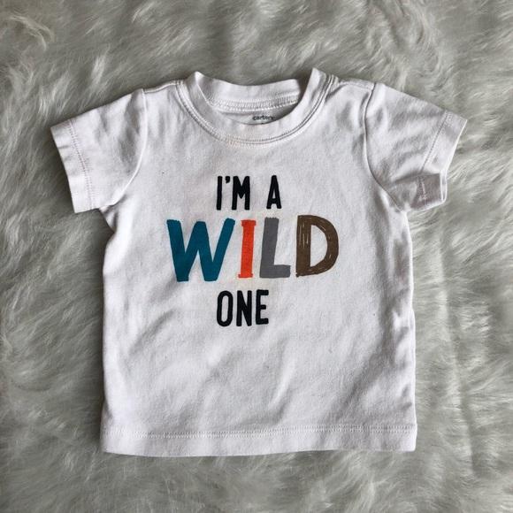 d2b95cc2 Carter's Shirts & Tops   Carters 12 Month Birthday Wild One Shirt ...